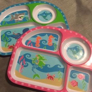 Boy and girl portion plates